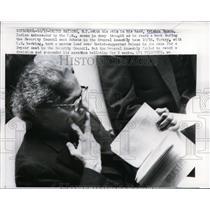 1959 Press Photo India's ambassador to UN, VK Krishna Menon at General Assembly