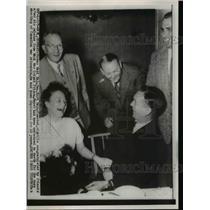 1954 Press Photo Former German Maj Gen Kurt Meyar released from Werl Prison