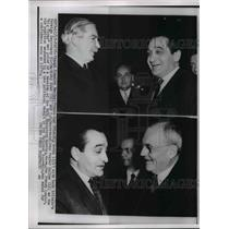 1955 Press Photo French Premier Mendes-France and Sir Anthony Eded of Britain