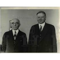1928 Press Photo Herbert C Hoverwith Dr S J Crumbine in New York campaign tour