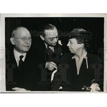 1939 Press Photo Dr Hufus Jones Dr William Fineshriber Mrs Franklin Roosevelt