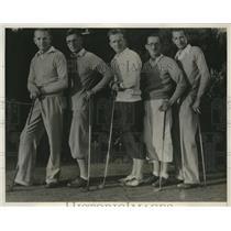 1932 Press Photo CA Amateur Handicap Golf Con, Bill, Frank, George, Joe Shea