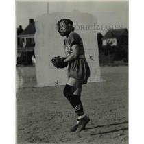 1932 Press Photo Ann Smith, Catcher, Midvale Oil Girls - cvb64800