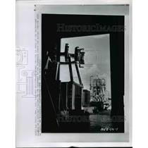 1958 Press Photo Las Vegas- Atomic Reactor is seen in background. - cvb58761