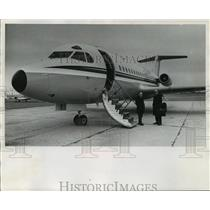 1970 Press Photo he Fokker F-28, developed by the Dutch - mja01491