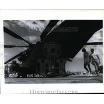 1994 Press Photo Sikorsky Sea Stallion Marion helicopter at Felts Field air show