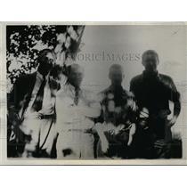 1933 Press Photo Students Make Trek Across Canadian Wilderness  - nee94768