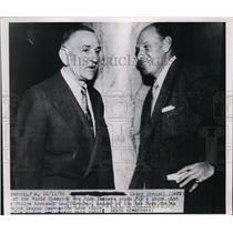 1950 Press Photo Yankees manager Casey Stengel with Giants manager Leo Durocher