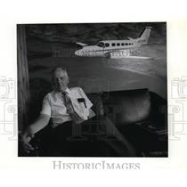 1989 Press Photo Student pilot Bob Dyche, a retired Central Valley High teacher