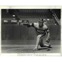 1984 Press Photo Chicago pitcher La Marr Hoyt during Indians vs. Chicago game