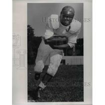 1953 Press Photo Jim Greene, halfback for John Marshall football team 1953