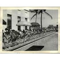 1938 Press Photo Junior Olympics swimming meet at Sun and Surf Club, Palm Beach