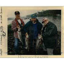 1998 Press Photo Three Fishermen with Salmon in Portland   - orb15591