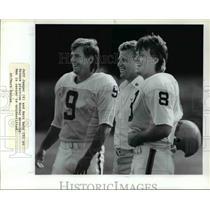 Press Photo Jeff Jaeger (8) and Matt Bahr (9) at Browns practice - cvb57873
