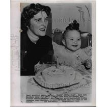 1953 Press Photo Daughter of Boxer Rocky Marciano, Mary Anne during birthday