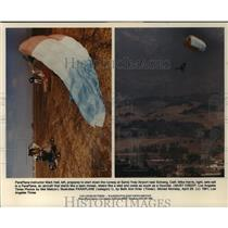 1991 Press Photo ParaPlane instructor Mark Hall prepare to start down the runway