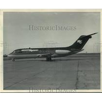 1985 Press Photo Midwest Airlines DC-9, crashed & burned after take-off