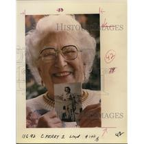 1992 Press Photo Jennie Reimann, World War II pilot - ora79306