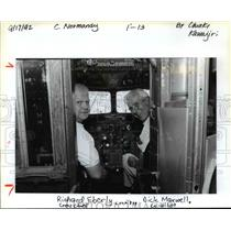 "1992 Press Photo Richard ""Tiny"" Eberly (left) and co-pilot Dick Maxwell"