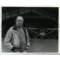 1994 Press Photo Bud Erickson, has been operating Mead Airport for 20 years.