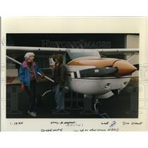 1994 Press Photo Isabel L Marte Female Pilot - ora55131