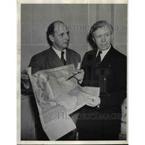 1938 Press Photo Arctic Explorers Capt.Dan Kruger and Vilhjalmur Stefansson