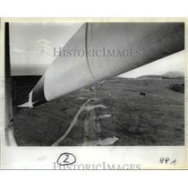 1981 Press Photo Wind turbine big as wing of Boeing - orb62257