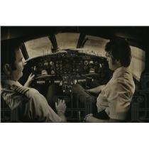 1978 Press Photo Greg Baldwin and James Ward at the controls - mja06215