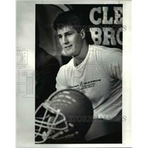 1987 Press Photo Mike Junkin, The Browns number 1 draft choice - cvb67382