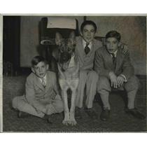 1927 Press Photo Roger Peckinpaugh children