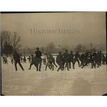 1923 Press Photo annual freshman/sophomore snowball fight, Maryland State