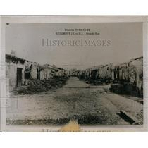 1920 Press Photo town of Vitrimont, France after German bombardment, World War I