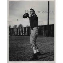 1947 Press Photo Don Burson, Northwestern University Quarterback