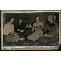 1936 Press Photo Marie Gross,Lorrainee Minehan,Mrs.Norman Baker,Mrs.Albert Icke