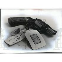 1991 Press Photo 38 Caliber Revolver Identified in Larencia Bembenek Trial