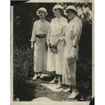 1938 Press Photo Mrs. Arthur Bowers, Mrs. Harold Bergman, Mrs. L.C. M'Kenzie