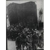 1944 Press Photo Allies during the assault on the French Norman coast.