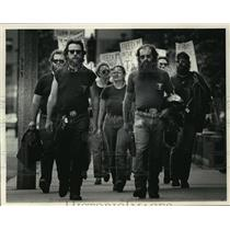 1986 Press Photo ABATE members Picket The Journal Company in Wisconsin