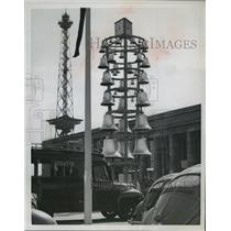 1954 Press Photo Iron belfry at the Berlin's annual Industrial Fair  - mja07682