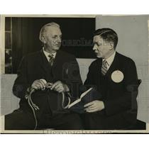 1927 Press Photo August C. Hardtke and Waller Carson  - mja16509