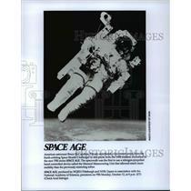 1984 Press Photo American astronaut Bruce McCandless II, Challenger. - cvb68058