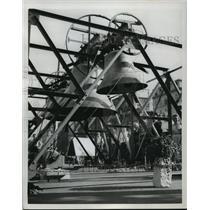 1953 Press Photo Huge Church bells for Evangelical Church Days in Hamburg, Ger