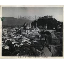 1944 Press Photo View of Salzburg in Austria - mja03993