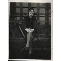 1934 Press Photo New York French singer Nadia Dauty arrives in NYC on Champlain