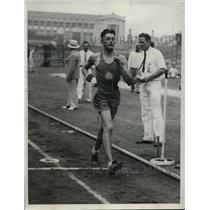 1933 Press Photo New York Max Bentul wins 5000m walk, Nat'l AAU meet NYC