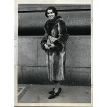 1931 Press Photo New York Mrs. John Radeloff at district attorney's office NYC