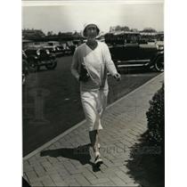 1931 Press Photo New York Mrs Harvey Shaffer at Southampton, Long Island NYC