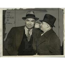1933 Press Photo Boxer Jack Dempsey with Unidentified Man - cvb75387