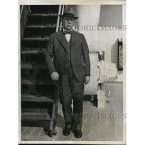 1933 Press Photo New York Dr. Mark Fleming on SS Santa Paula, sails to Cuba NYC