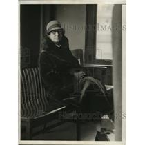 1930 Press Photo New York Anna Eisenmanger in the District Attorney's office NYC